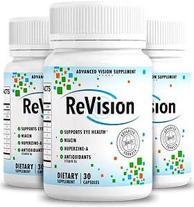 ReVision eye supplement bottles